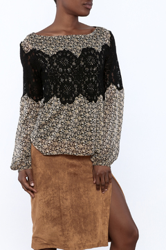 Shoptiques Product: Lace Overlay Blouse