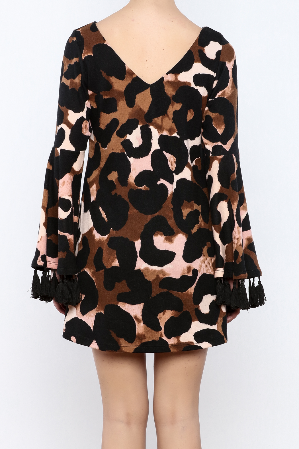 Judith March Leopard Print Dress - Back Cropped Image