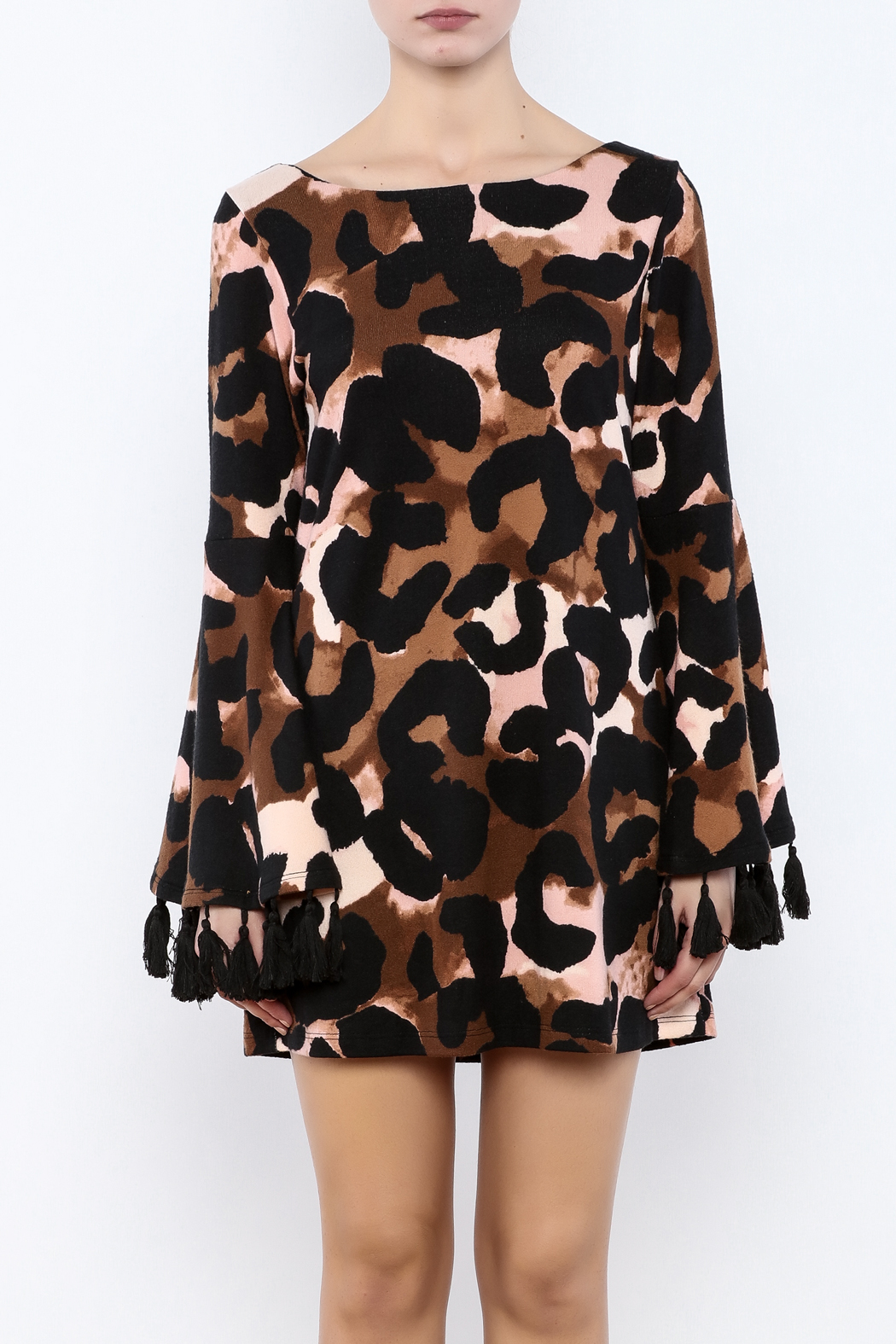 Judith March Leopard Print Dress - Side Cropped Image