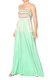 Judith March Mint Strapless Maxi - Product Mini Image