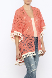Judith March Orange Crochet Kimono - Product Mini Image