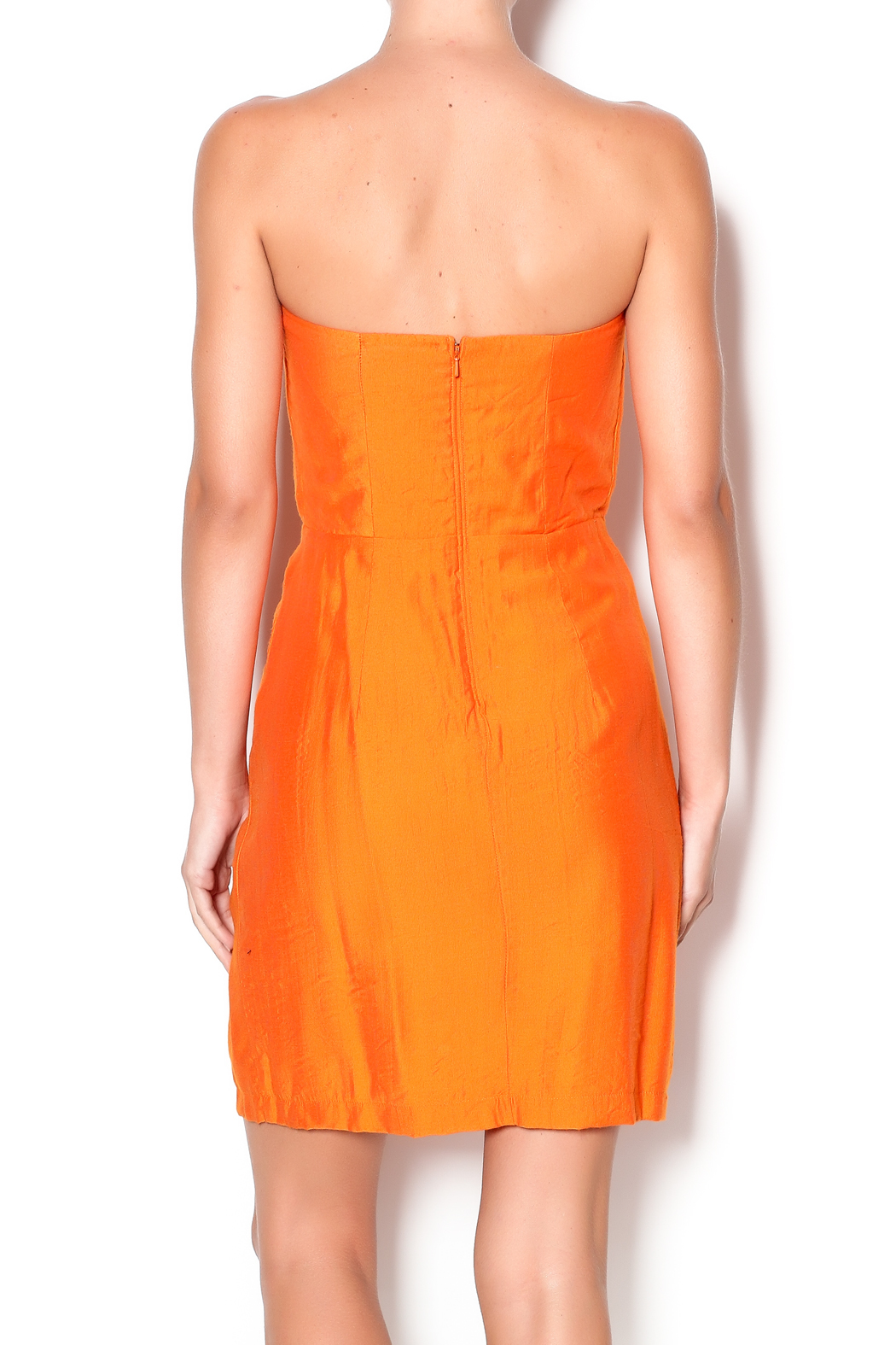 Judith March Strapless Orange Dress From Louisiana By Rrus