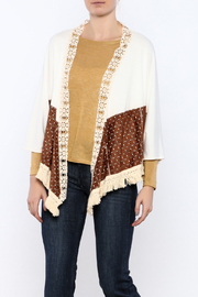 Judith March Suedette Fringe Duster - Product Mini Image