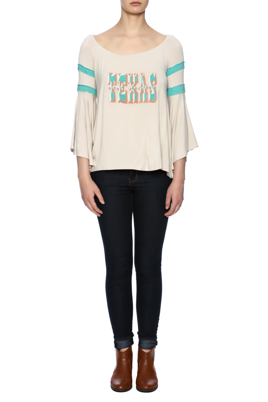 Judith March Texas Embroidered Top - Front Full Image