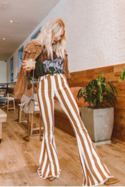 saints and hearts Judith Striped Bell Bottoms - Product Mini Image