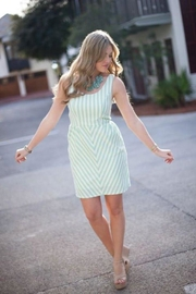 Judith March Bow Striped Dress - Product Mini Image