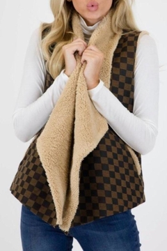 Judith March Checkmate Jacquard Vest - Product List Image