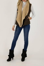 Judith March Checkmate Jacquard Vest - Back cropped