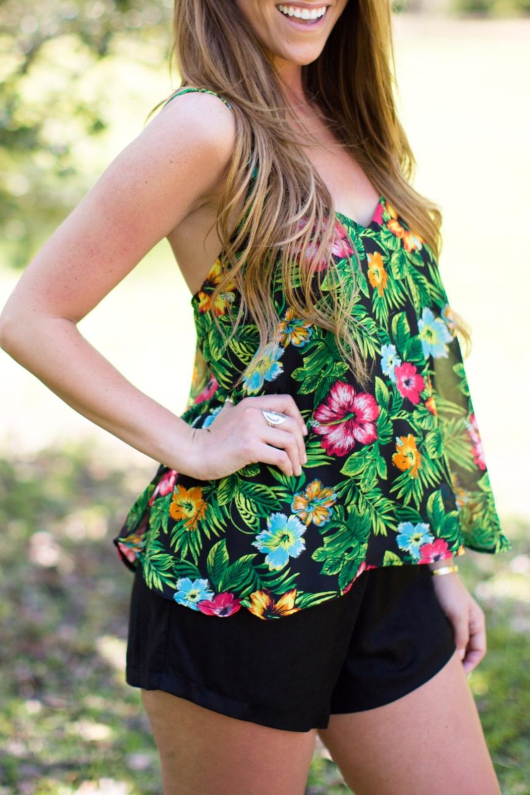 Judith March Leafy Floral Romper - Main Image