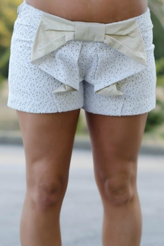 Judith March Lace/linen Cascadingbow Shorts - Product List Image