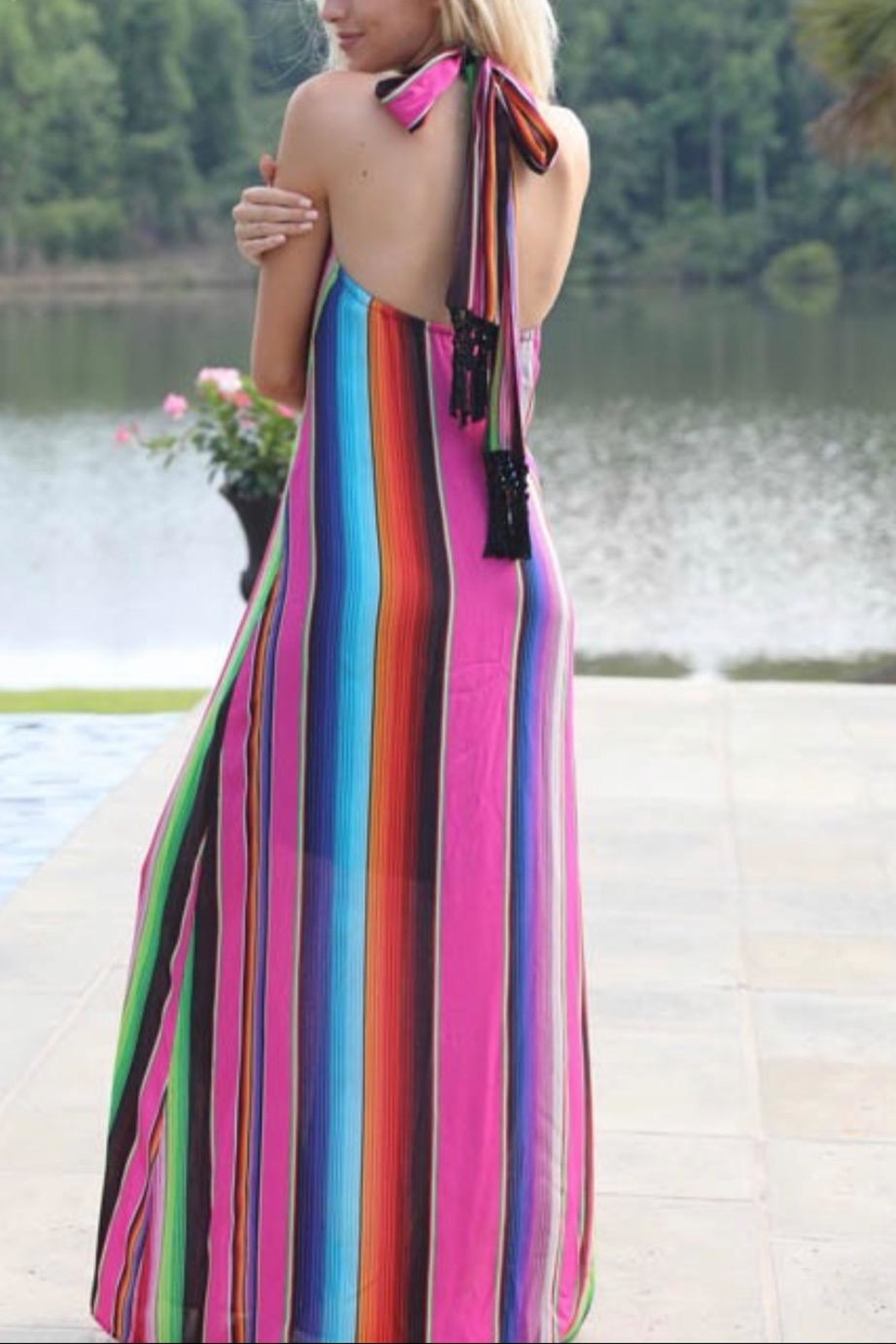 Judith March Multicolor Halter Maxi - Front Full Image