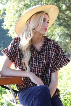 Judith March Theno.5 Tweed Top - Product List Image