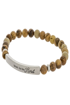 Judson & Co. Beaded-Bracelet-Brown-Trust-In-The-Lord - Alternate List Image