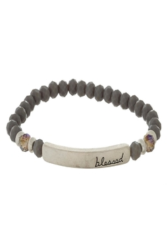 Judson & Co. Blessed Grey-Beaded Bracelet - Alternate List Image