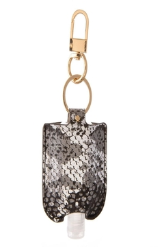 Judson & Co. Hand Sanitizer - Leather-Snakeskin-Key-Chain - Alternate List Image