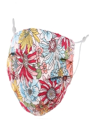 Judson & Co. Mask - Adult-Floral-Fuchsia-Adjustable - Front cropped