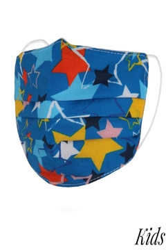 Judson & Co. Mask - Kids-Blue-Stars-Pleated - Alternate List Image