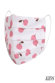 Judson & Co. Mask - Kids-Pink-Apples-Pleated - Product Mini Image