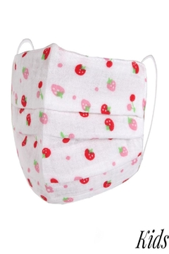 Judson & Co. Mask - Kids-Strawberry-Pleated - Alternate List Image