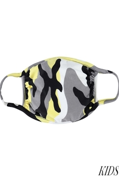 Judson & Co. Mask - Kids-Yellow-Camo - Alternate List Image