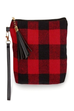 Judson & Co. Red-Black Wristlet - Alternate List Image