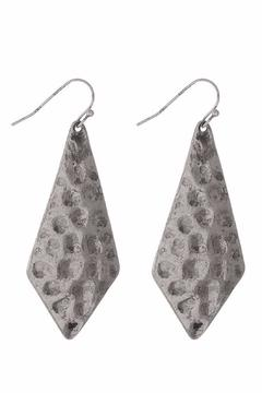 Shoptiques Product: Silver Hammered Earrings