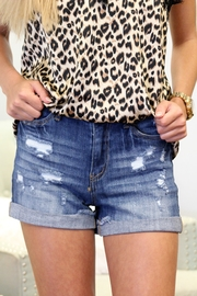 Judy Blue Distressed Stretch Shorts - Product Mini Image