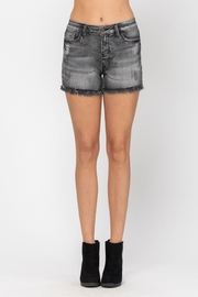 Judy Blue Fray Hem Cut-Off Shorts - Product Mini Image