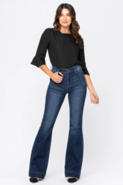 Judy Blue Hi-Rise Trouser Flare - Front cropped