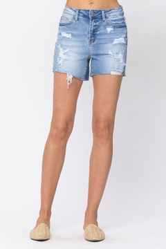 Judy Blue High Waist Destroyed shorts - Product List Image
