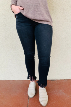 Shoptiques Product: Judy Blue Mid Rise Fray Skinny