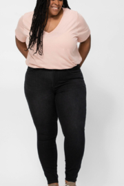 Judy Blue Judy Therma Black Jeans - Product Mini Image