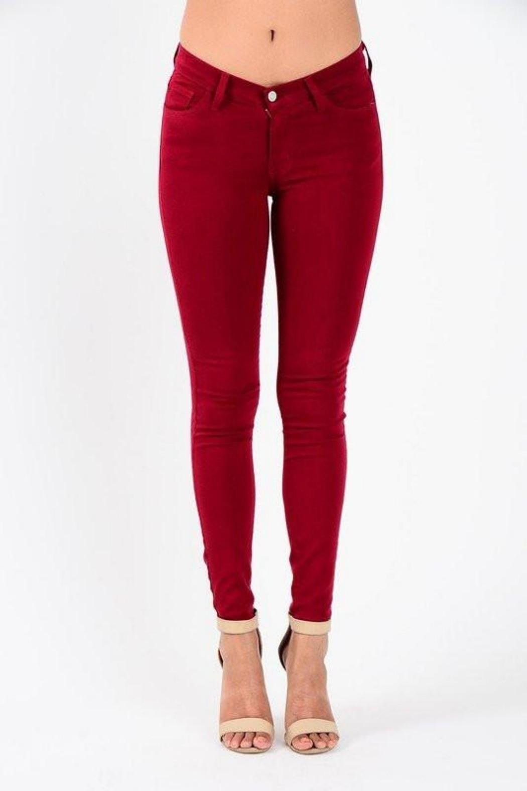 Judy Blue Colored Skinny Jeans - Front Cropped Image