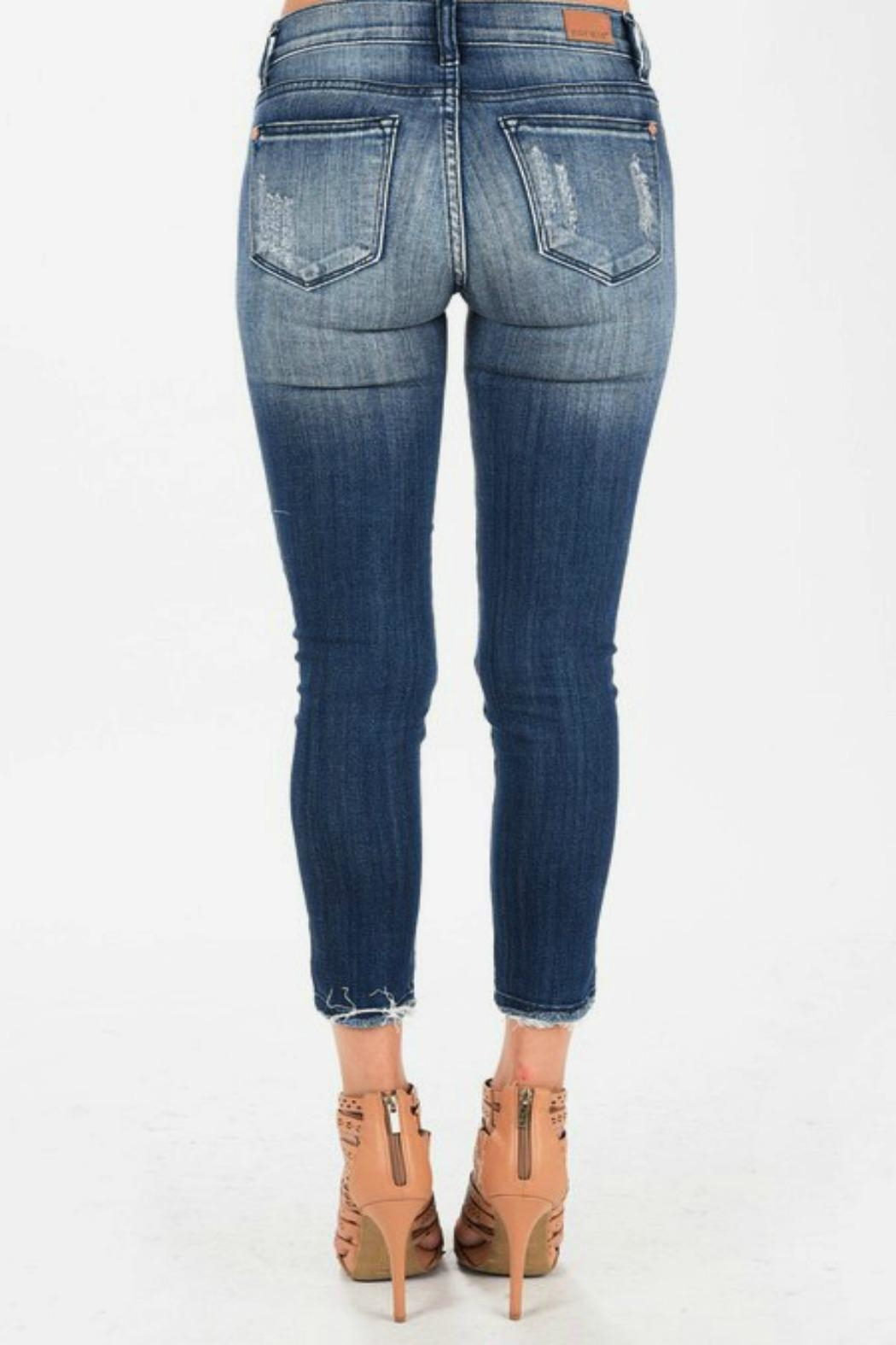 Judy Blue Cropped Ankle Skinnies - Front Full Image