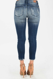 Judy Blue Cropped Ankle Skinnies - Front full body