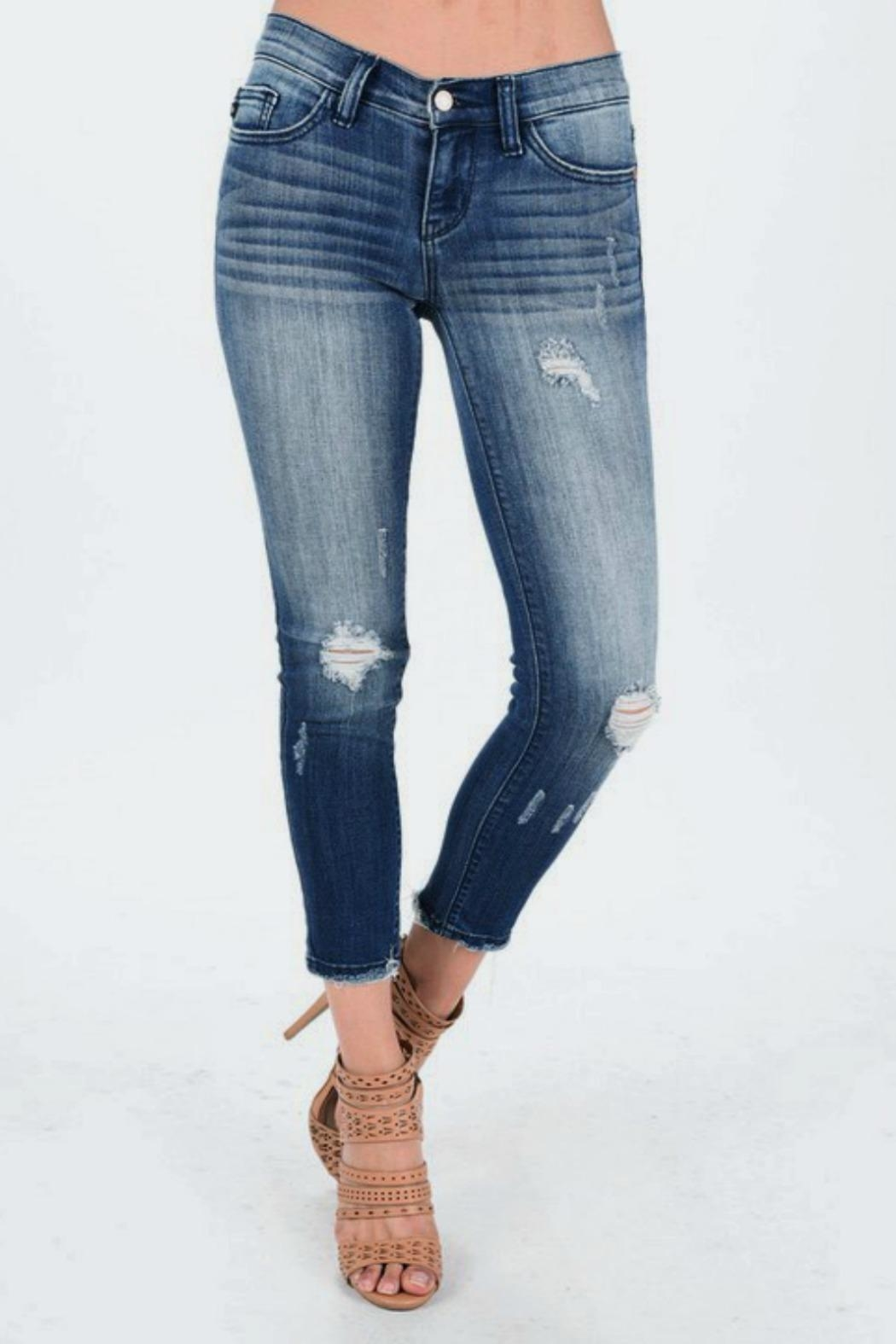 Judy Blue Cropped Ankle Skinnies - Main Image