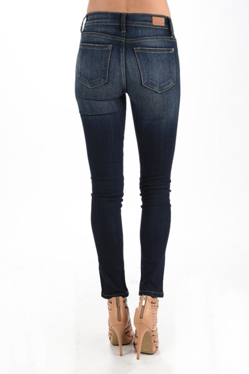 Judy Blue Dark Wash Skinnys - Back Cropped Image