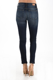 Judy Blue Dark Wash Skinnys - Back cropped