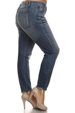 Shoptiques Product: Destroyed Ankle Jeans