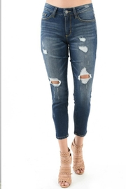 Judy Blue Destroyed Boyfriend Jeans - Product Mini Image