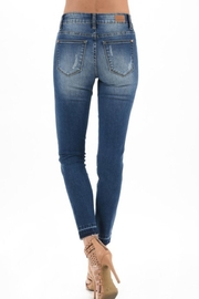 Judy Blue Distressed Leopard-Accent Jeans - Front full body
