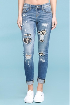 Judy Blue Leopard Distressed Jeans - Alternate List Image