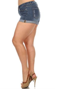 Shoptiques Product: Rolled Distressed Shorts