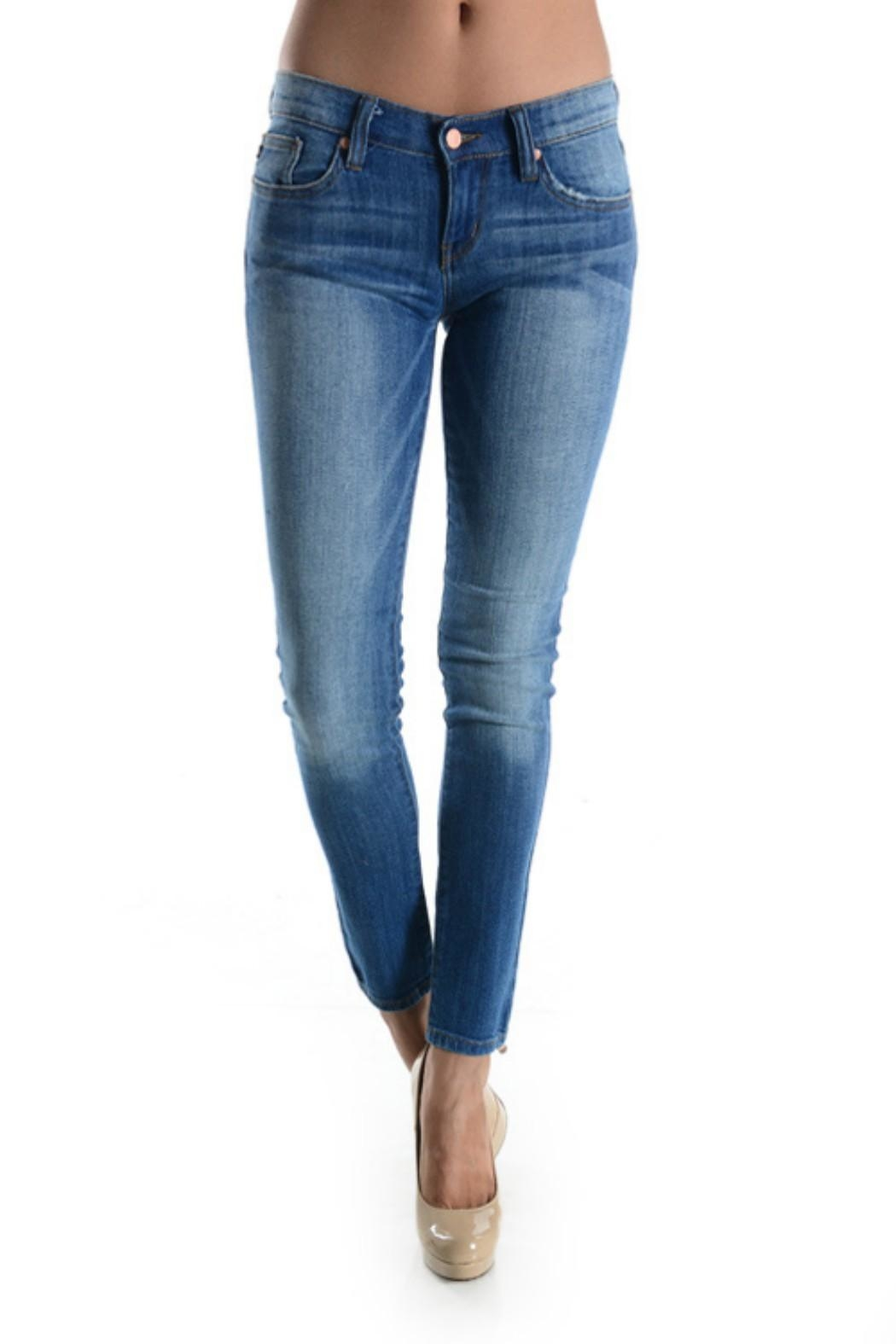 Judy Blue Stone Washed Skinnys - Front Cropped Image