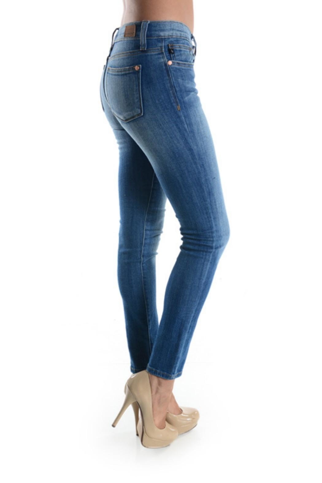Judy Blue Stone Washed Skinnys - Side Cropped Image