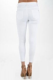 Judy Blue White Destructed Skinnys - Front full body