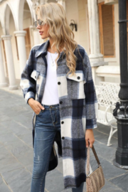 Miss Sparkling Jules Long Plaid - Side cropped
