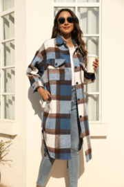 Miss Sparkling Jules Long Plaid - Front full body