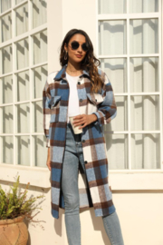 Miss Sparkling Jules Long Plaid - Front cropped
