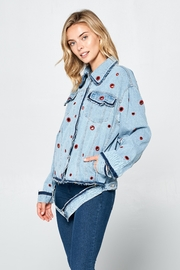 Racine Jules Statement Denim-Jacket - Product Mini Image